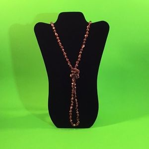 Beautiful Burgundy Beaded Necklace